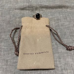 David Yurman petite Wheaton Ring- black onyx
